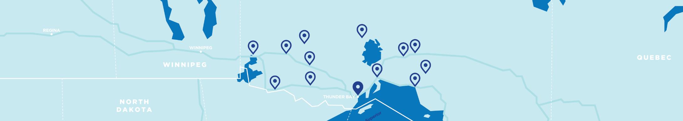 Map of Thunder Bay